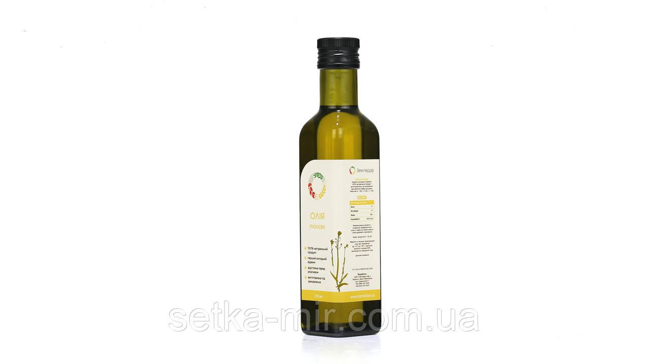 Рижієва олія 0,25 л сертифікована без ГМО сиродавлена холодного віджиму