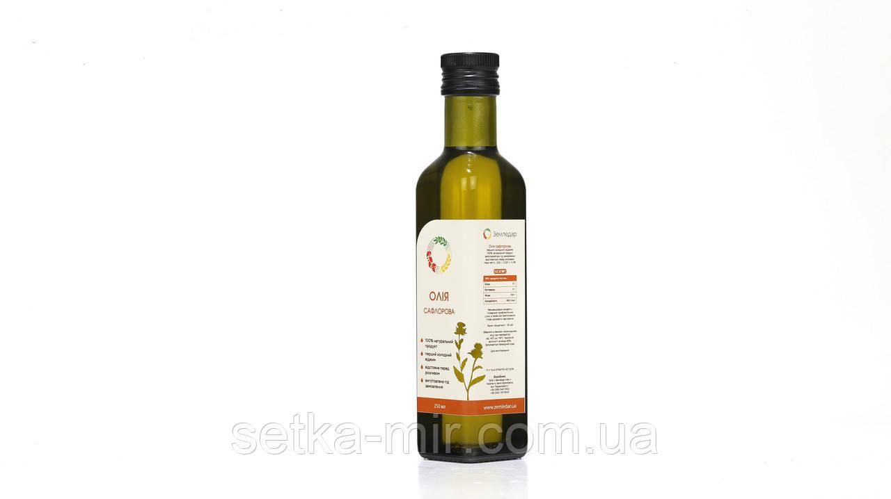 Сафлоровое масло 0,25 л сертифицированное без ГМО сыродавленное холодного отжима