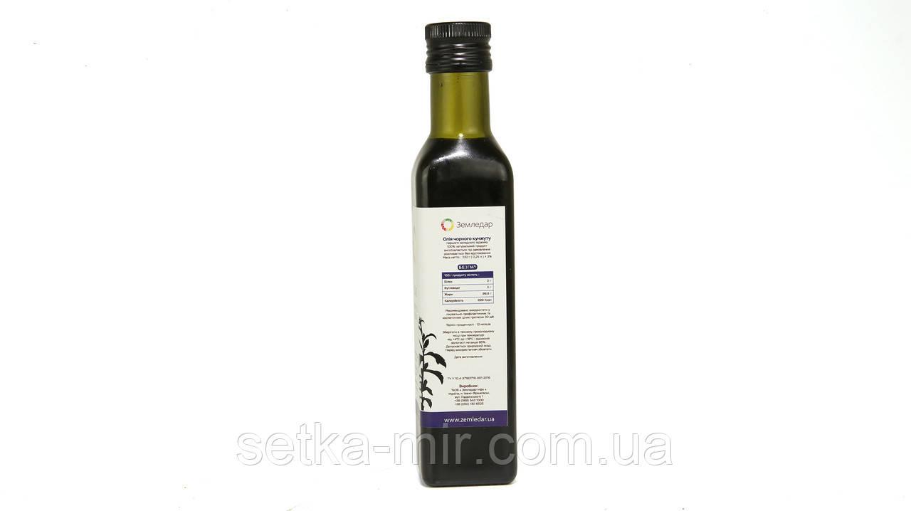 Черного кунжута масло 0,25 л сертифицированное без ГМО сыродавленное холодного отжима