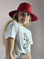 Шляпа SSPx6 бордовая