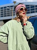 Повязка на голову розовая CHS2x3 шерсть , фото 1