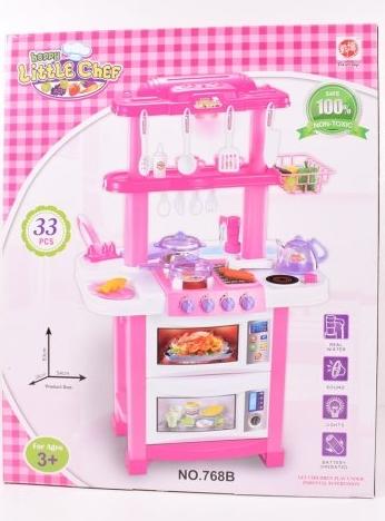Детский игровой набор интерактивная кухня большая Bozhi Toys 768B свет звук вода посудка продукты