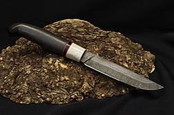 """Традиційний фінський ніж з дамаської сталі """"Фінка"""" з рукояттю з мореного дуба і роги лося, фото 2"""