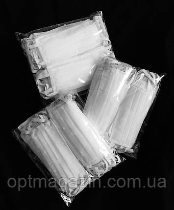 Маска защитная двухслойная на резинке, фото 2