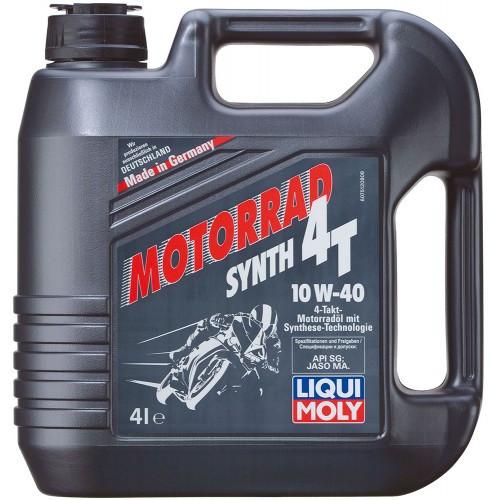 Масло для 4-тактных мотоциклов HC-синтетическое Liqui Moly Motorrad 4T 10W-40 4л. 7512