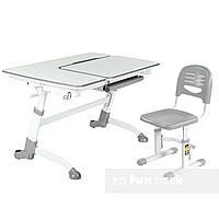 Детский стол-трансформер FunDesk Amare Grey + Детский стул SST3 Grey