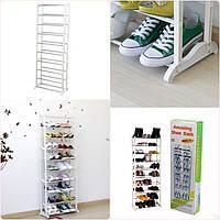 Полка для обуви amazing shoe rack 10 полок