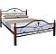 Кровать двуспальная Патриция Вуд с изножьем TM Melbi, фото 2