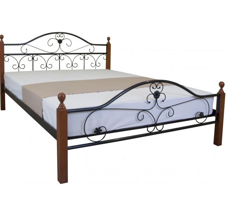 Кровать двуспальная Патриция Вуд с изножьем TM Melbi
