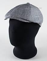Летняя кепка-восьмиклинка серого цвета