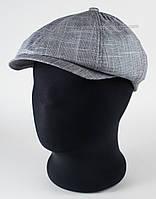 Мужская кепка хулиганка серого цвета