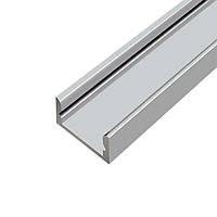 Профиль алюминиевый BIOM накладной ЛП-7 6.5х15 анодированный 1м
