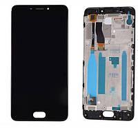 Дисплей для телефона Meizu M5 Note (M621) с сенсорным стеклом в рамке (Черный) Оригинал Китай