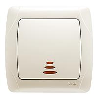 Выключатель однокл. внутренний с подсветкой VIKO Carmen Крем