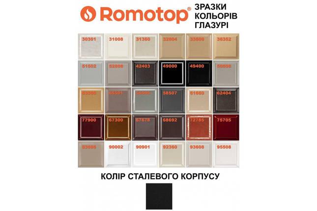 Печь камин ROMOTOP Ovalis 05 AKUM аккумуляционная, гладкая керамика, фото 2