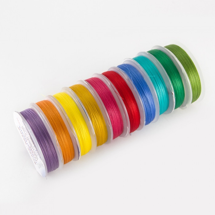 Нить TYTAN 100, Цвет: Микс 1, Размер: Диаметр 0,1мм, около 100м/катушка, 10 катушек/набор