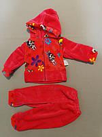 Детский красный костюм из травки для девочки до годика., фото 1