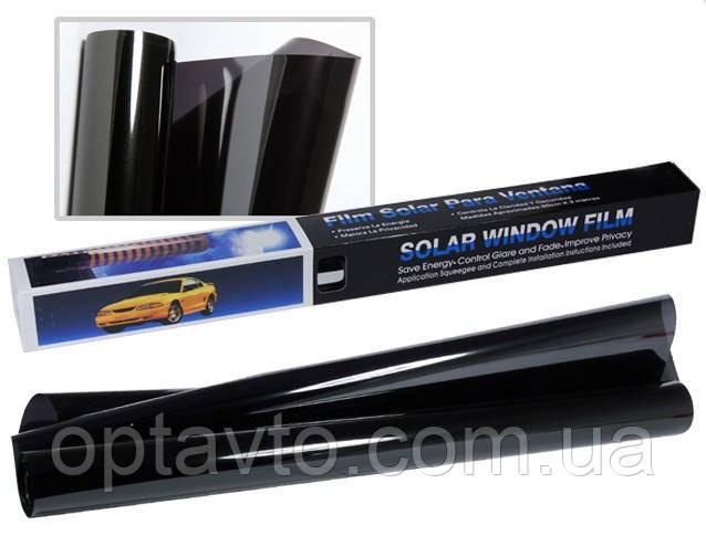 Тонировочная пленка для автомобиля. Пленка BLACK (черная) 50х300 см \ 25%