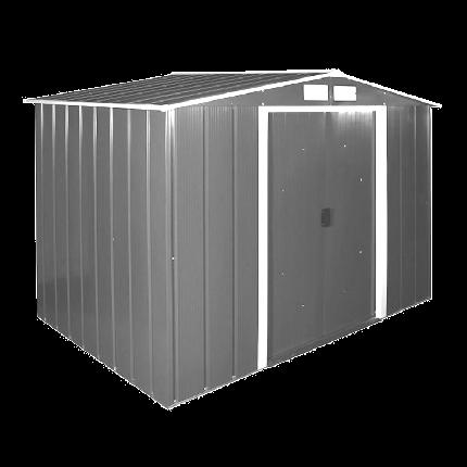 Сарай металлический ECO 262x182x191 см серый с белым, фото 2