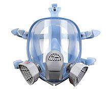 Повна маска Хімік-3 VITA з двома фільтрами А1 під байонет в силіконовій оправі (аналог 3М 6700, 3М 6800