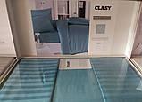 Комплект постельного белья Clasy Strip сатин однотонный Turkuaz, фото 4