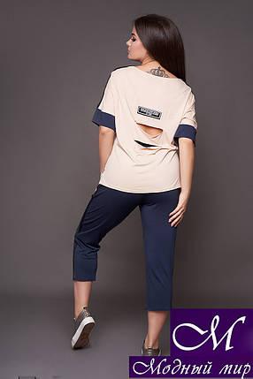Женский костюм футболка + бриджи батал (р. 48-50, 52-54) арт. 30-289, фото 2