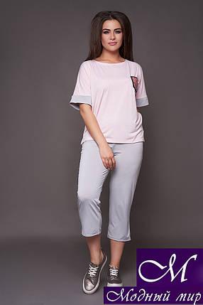 Женский костюм футболка + капри батал (р. 48-50, 52-54) арт. 30-290, фото 2