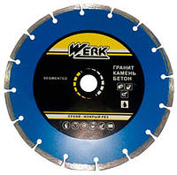 Диск алмазный по бетону Segment 125x7x22.23 мм, Werk 1A1RSS/C3-W WE110101 (43570)
