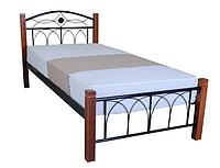 Кровать односпальная металлическая Эдже с изножьем TM Lavito