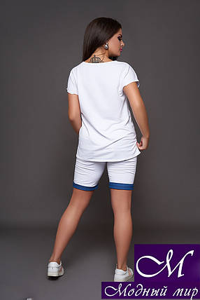 Женский костюм футболка + шорты (р. 48, 50, 52, 54) арт. 30-609, фото 2
