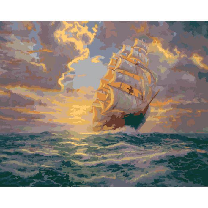 Картина по номерам Рассвет под парусами Идейка