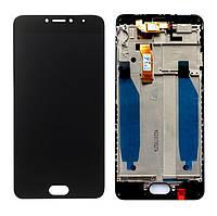 Дисплей для телефона Meizu M5c (M710h) с сенсорным стеклом в рамке (Черный) Оригинал Китай
