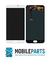 Дисплей для телефона Meizu MX5 | MX5e (M575) | MX5e Lite c сенсорным стеклом (Белый) OLED