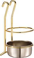Стакан Lemi Италия для столовых приборов золото (31706)