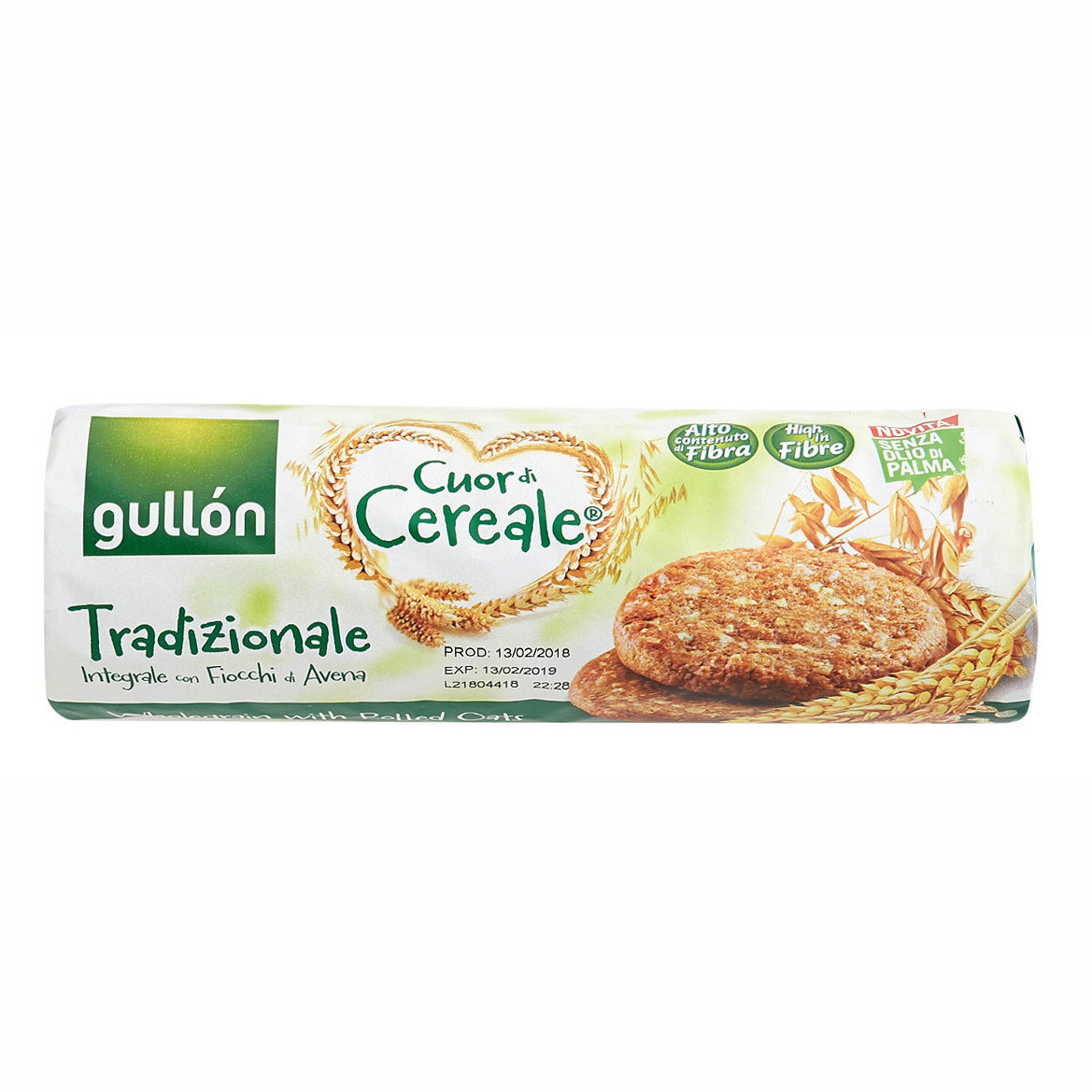 Печиво GULLON tube Cuor di Cereale класичне зі злаками, 280г (16шт)