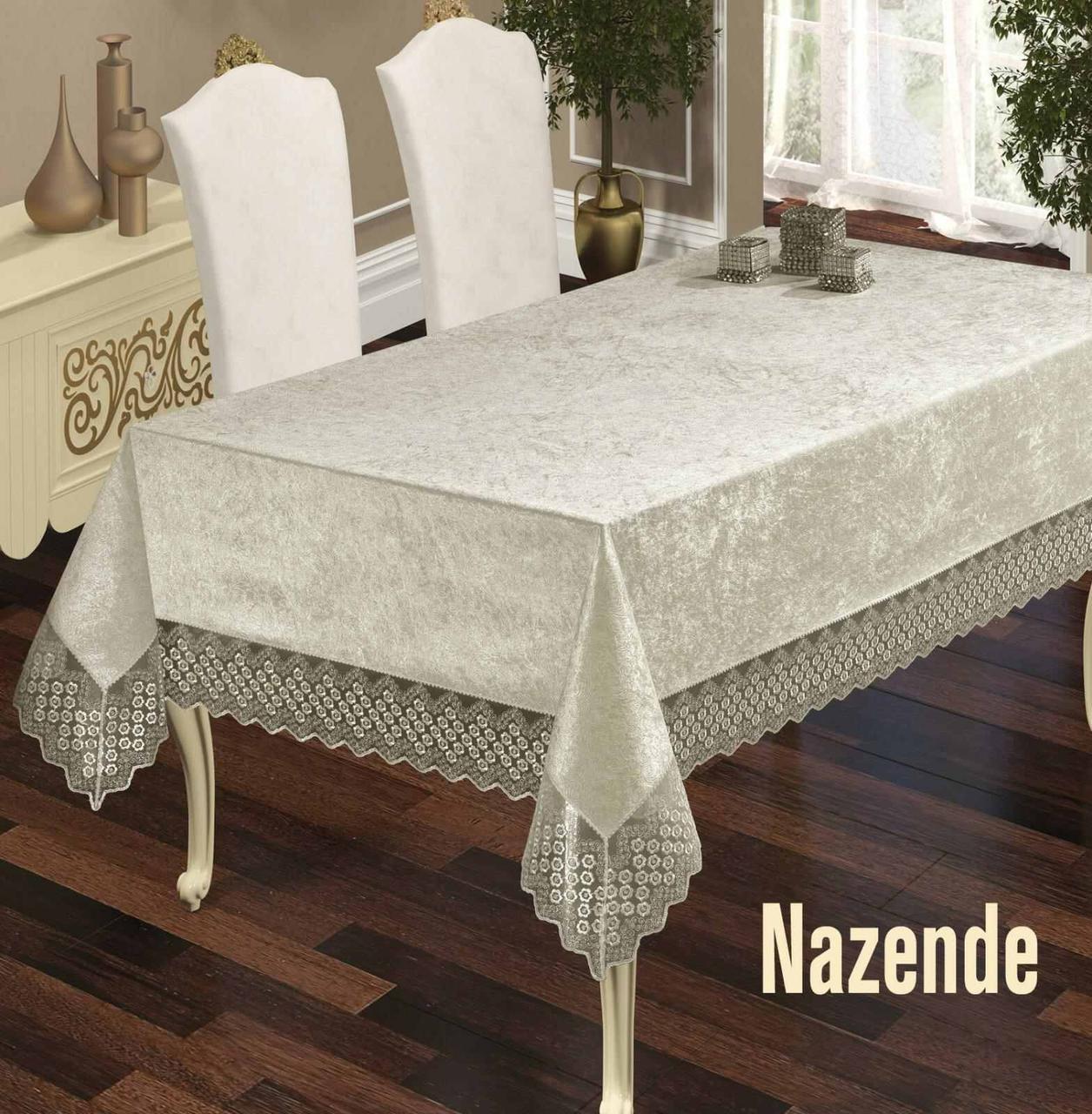 Скатертина Велюр Maison Royale 160x350 Nazende Cream
