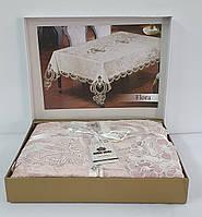 Скатерть Велюр Maison Royale 160x220 Flora Powder