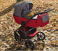 Универсальная коляска 2в1 Baby-Merc La Noche LN/02B Красно-серая