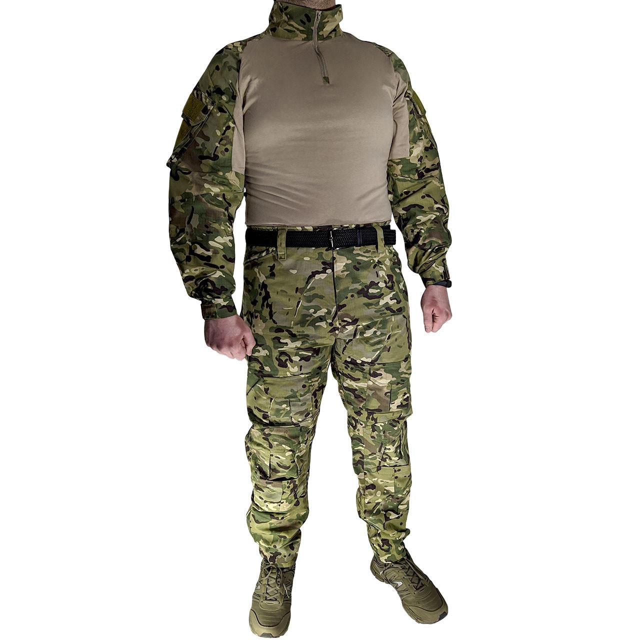 Костюм тактический Lesko A751 Camouflage XXL (38 р) камуфляжный комплект для мужчин с длинным рукавом милитари