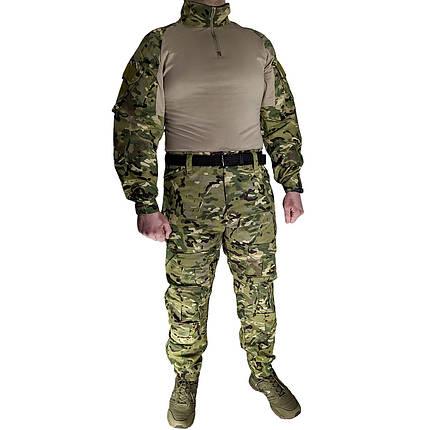 Костюм тактичний Lesko A751 Camouflage XXXL (40р) камуфляжний комплект для чоловіків з довгим рукавом мілітарі, фото 2