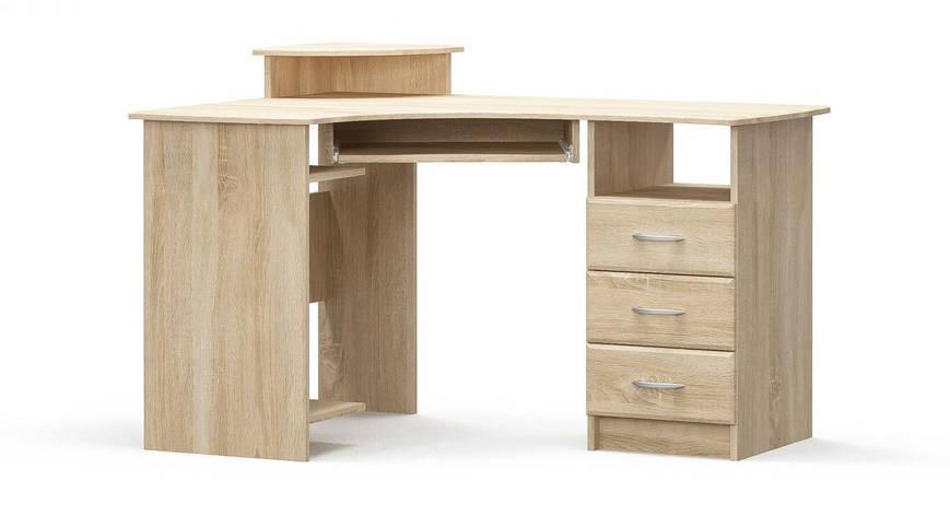 Стол письменный угловой левый/правый в детскую комнату/спальню из МДФ Дуб Самоа Мебель Сервис 1 , фото 2