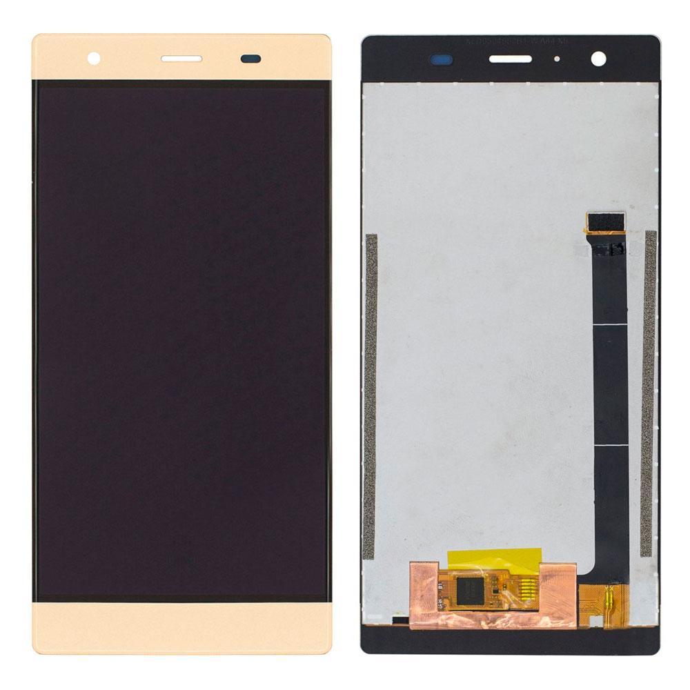 Дисплей модуль для Doogee Y300 в зборі з тачскріном, золотистий
