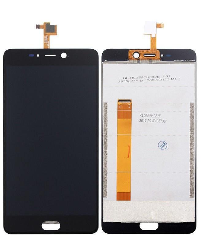 Дисплей для Leagoo T5 модуль в сборе с тачскрином, черный
