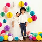 Бумажные шары соты и шары цветок