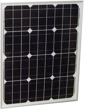 Монокристалическая солнечная панель 12В 50Вт