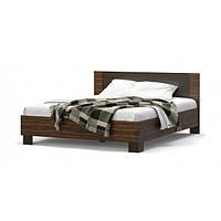 Кровать двуспальная в спальню из ДСП Вероника Мебель Сервис с ламелями