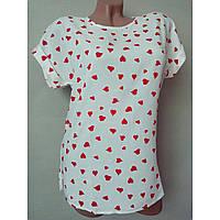 Блуза-футболка летняя из штапеля 44р.(44 - 54рр) белая