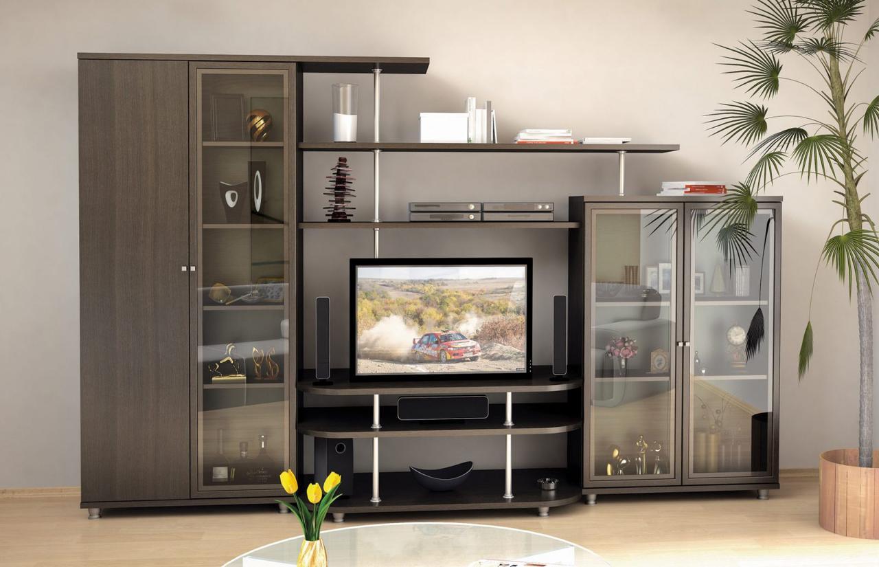 Гостиная стенка комплект из ДСП Рио 4 Мебель Сервис