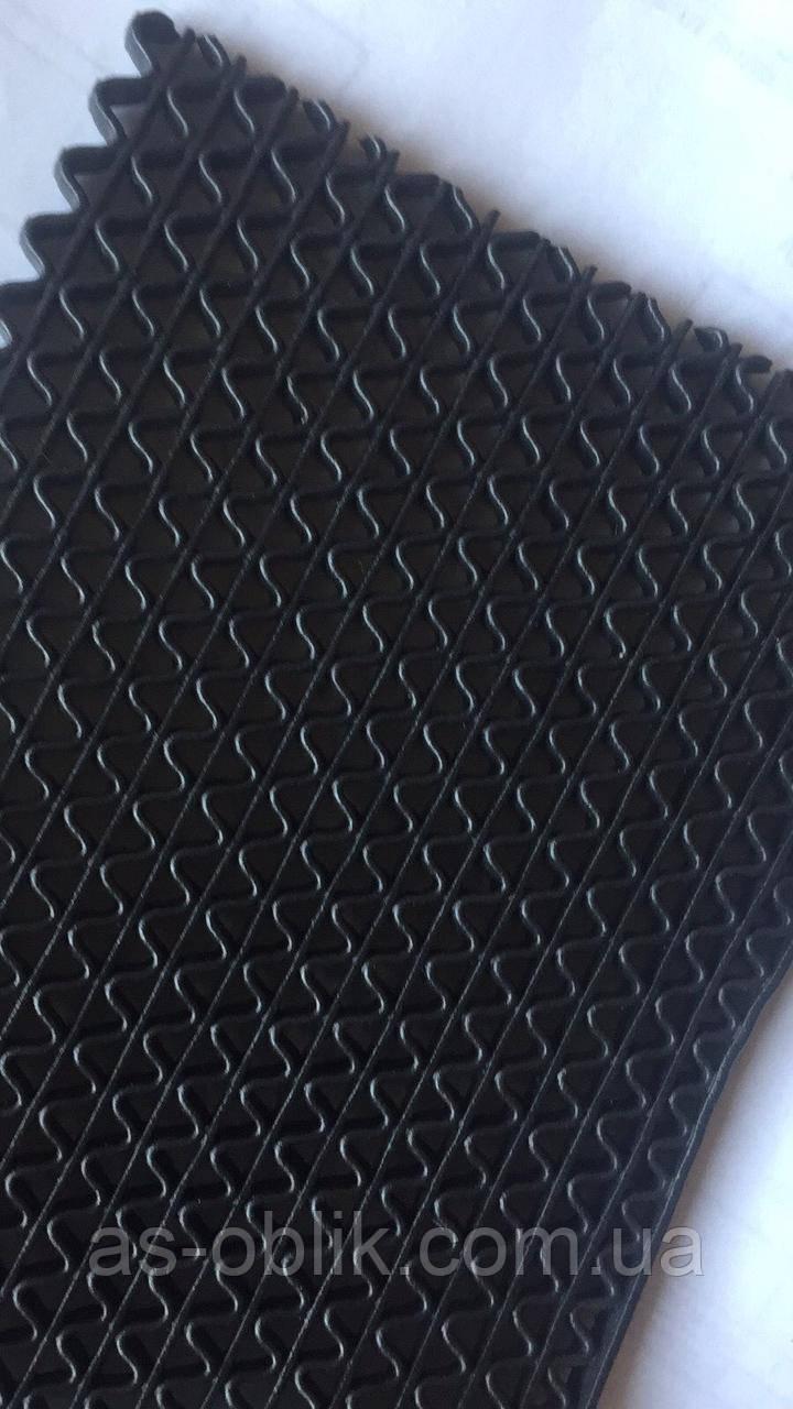 Килим гумовий 1500х185 мм Крокус нью чорний