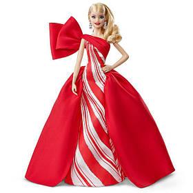 Коллекционная кукла Барби Праздничная Holiday Barbie 2019 Блондинка FXF01